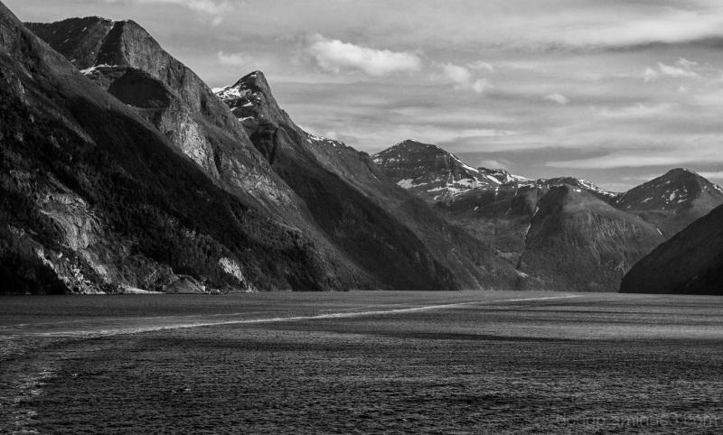 Leaving Geiranger fjord