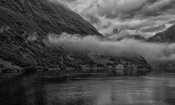 Cloud in the fjord