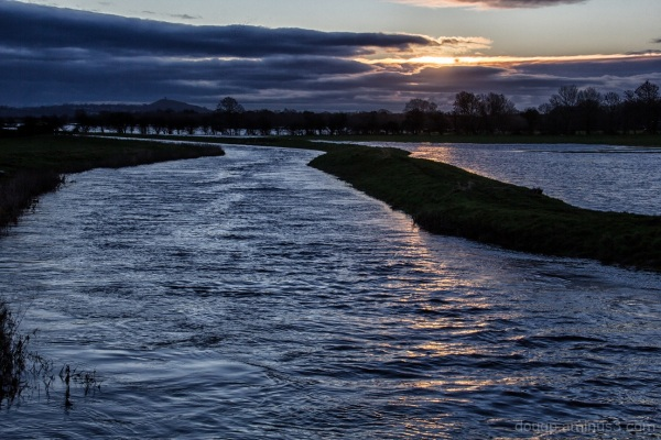 Floodwaters on the moor