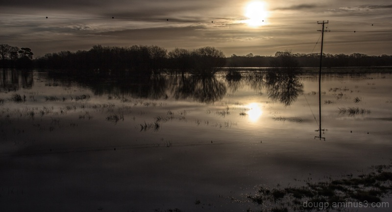 Floodwaters on the moor 2
