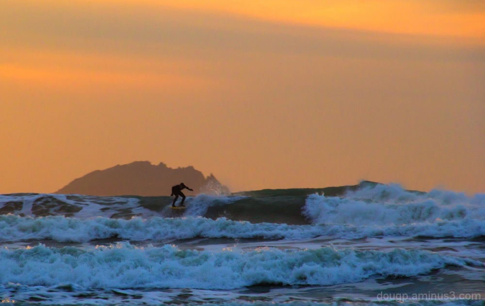 Sunset surfer 1 of 2
