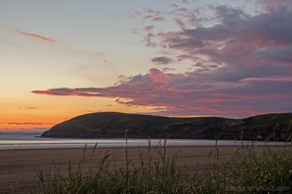 The sun goes down on Brean