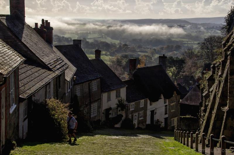 Gold Hill in Dorset