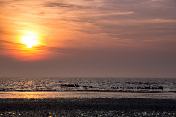 Berrow beach sunset 3 of 3