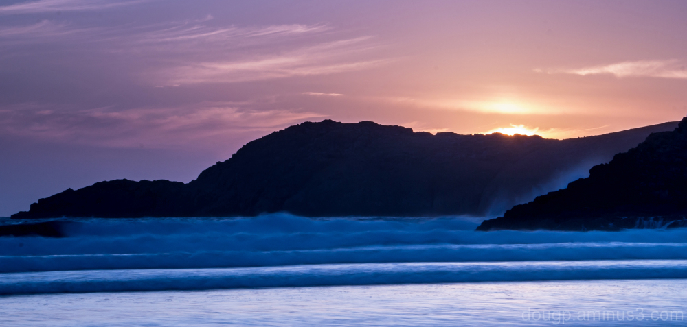 Sunset over the headland