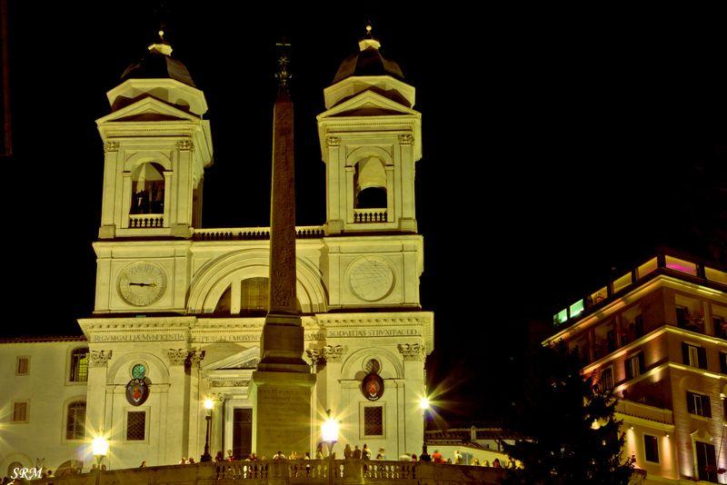 night photography,Spanish steps,Rome,Italy