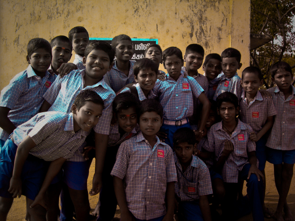Students from Government School,Thorapakkam,India