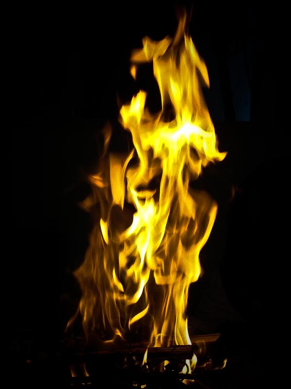 Fire at homam