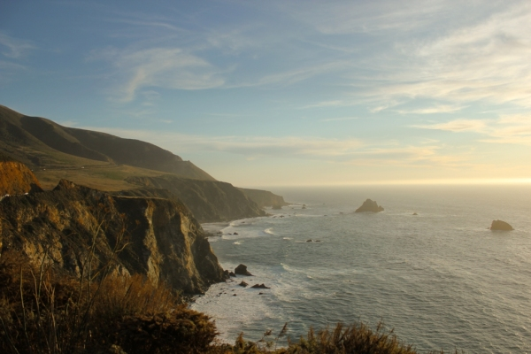 A view of the Pacific Coast in California
