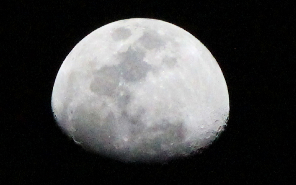 Half moon on 22nd January night