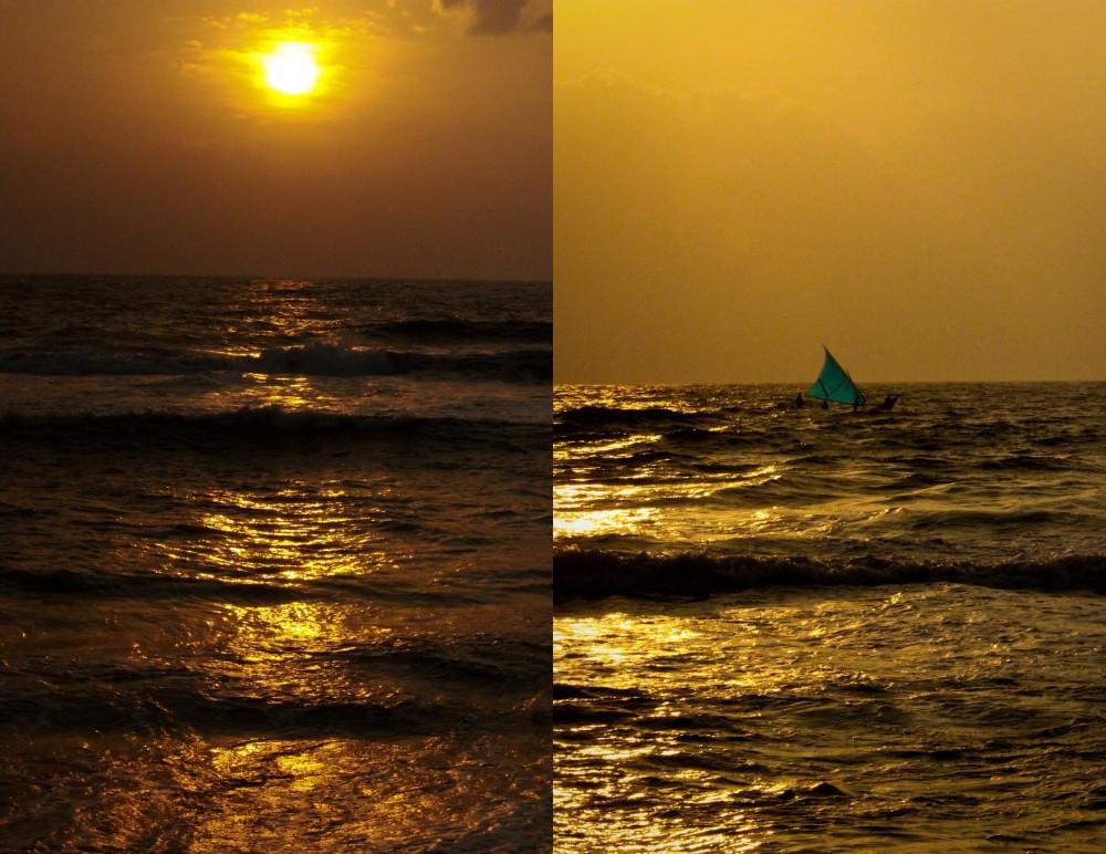 Fishermen at the dawn at near Marina Beach