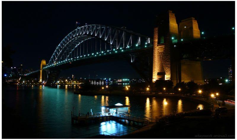 Sydney Harbor Bridge at Night