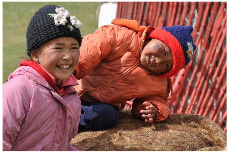 Kyrgyz Kids at Song Kul