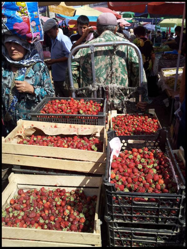 Osh Market Bishkek Strawberries