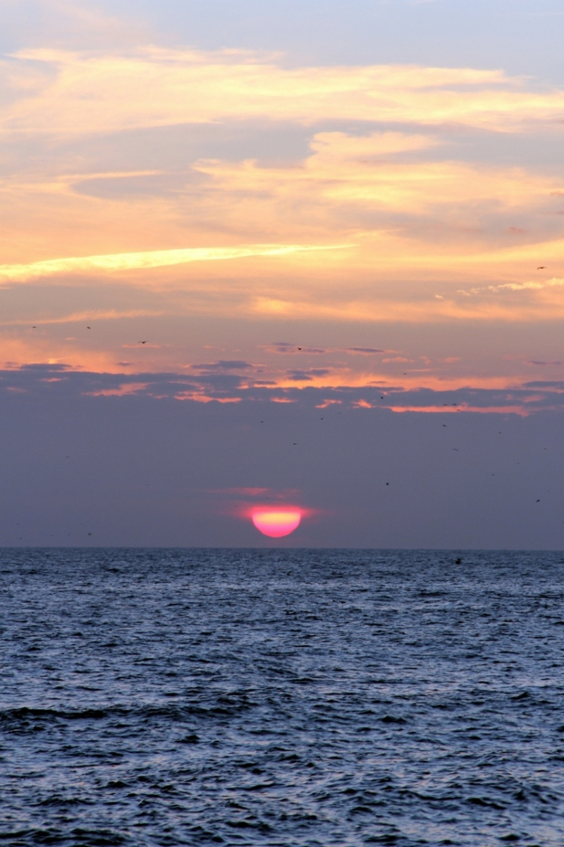 Sunset on the English Channel