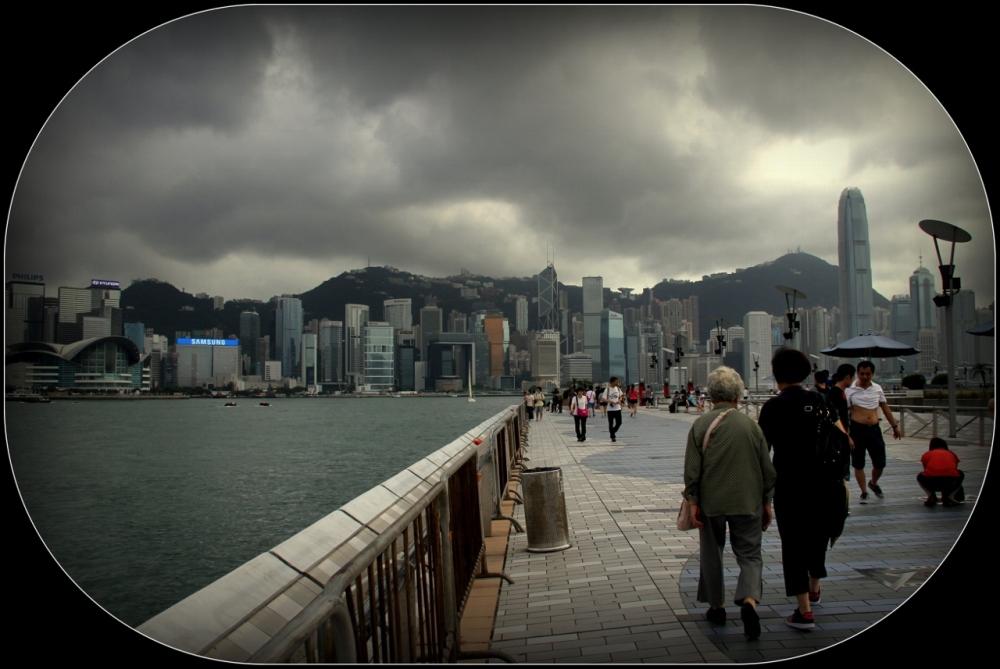 Hong Kong Island from Avenue of Stars