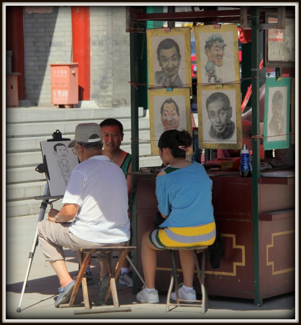 Character Drawing; Tianjin, China