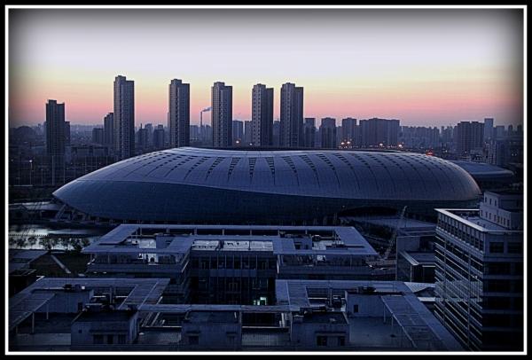 Aocheng and Olympic stadiums, Tianjin China