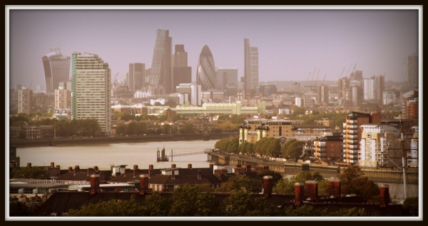 View of London from Greenwich Park
