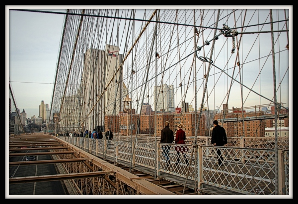 New York City form the Brooklyn Bridge