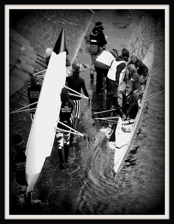 Crew in the River Ouse York, UK