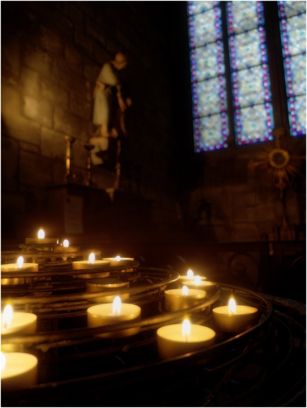 contemplative candlelights i