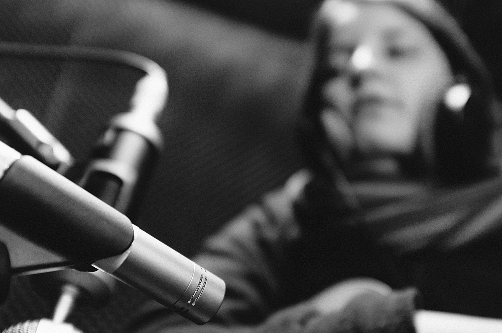 in the studio ii: into the microphone