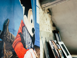 mickey mouse in an atelier