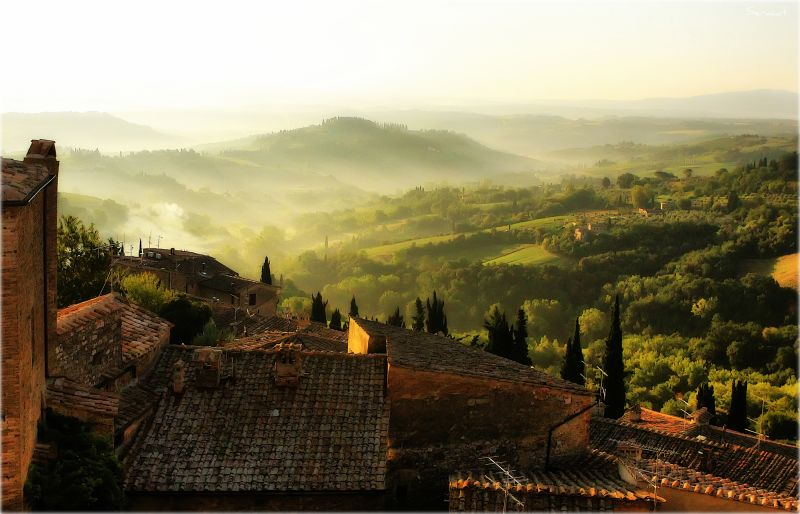early morning in Tuscany