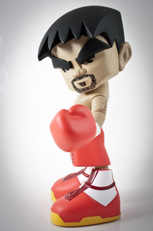 Mindstyle Pacquiao vinyl figure in the lightbox.