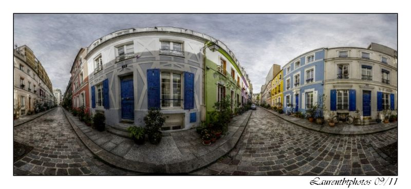 Paris rue Crémieux, fish eye