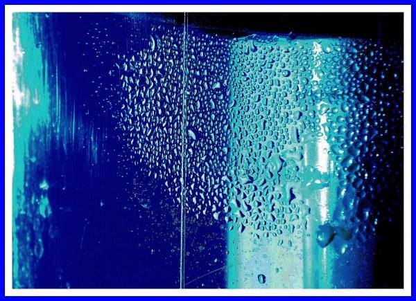 Gouttes bleu