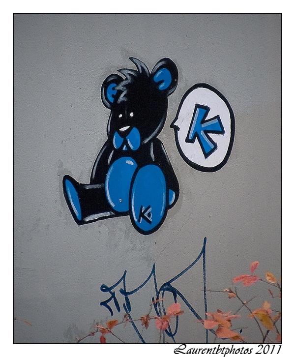 Ours bleu et noir!!