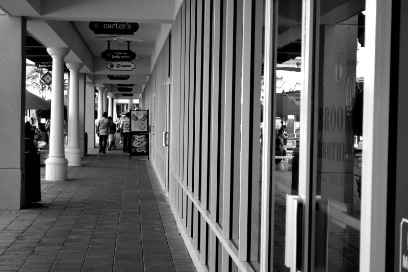 Corridor of shops