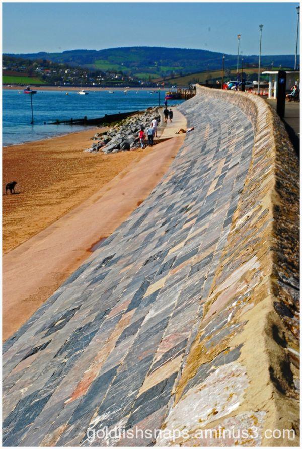 Exmouth sea wall.