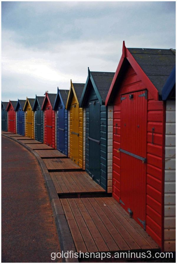 beach huts at Dawlish Warren.