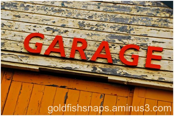 Garage sign on Dartmoor.