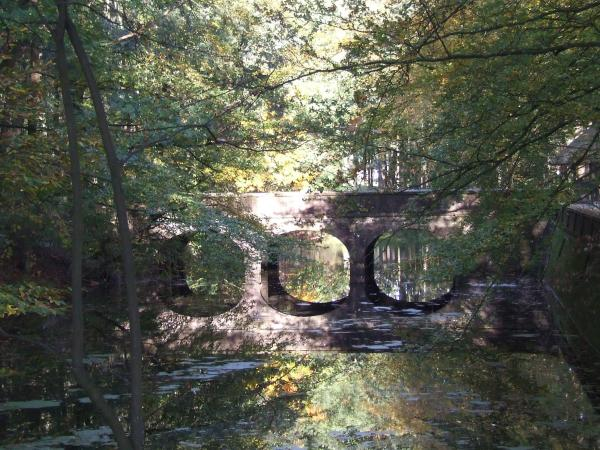 kasteel Biljoen toegangsbrug in reflectie