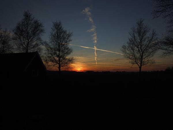 ondergaande zon, siegerswoude, 2009