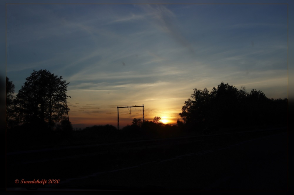 zonsondergang bij Wolvega