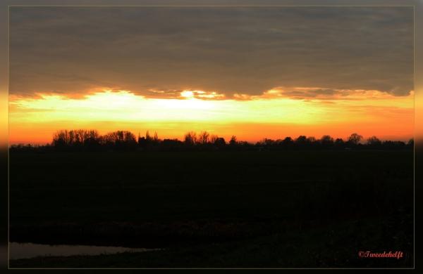 zonsondergang bij Abcoude