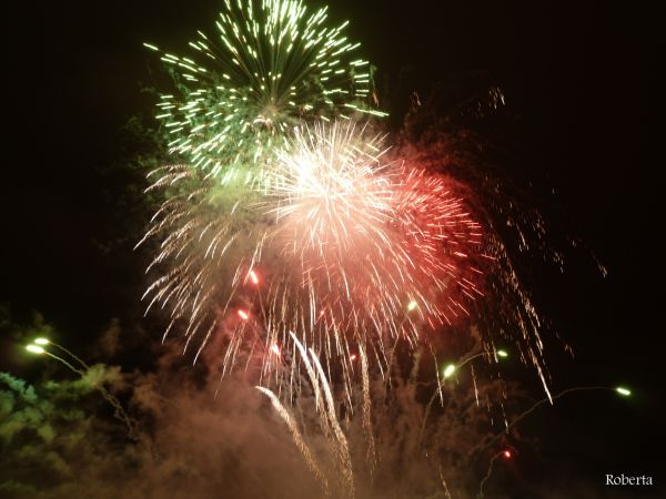 Fireworks for 150 years since Italian unification
