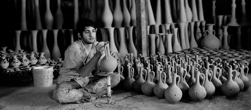 A young potter of Laljin