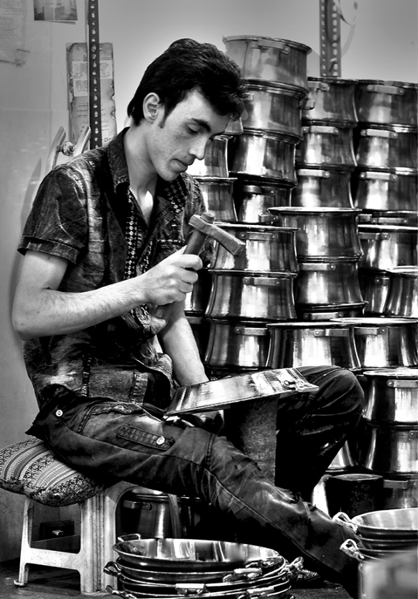 A young Coppersmith of Isfahan.....