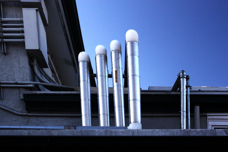 Pipes on a roof