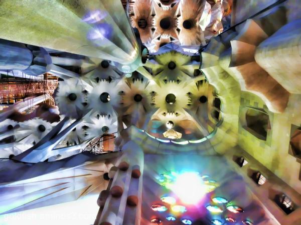 """Sagrada Família - 5/5 """"Looking Up"""""""