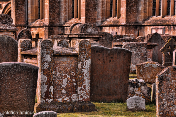 Gravestones at St John the Baptist, Burford 1/2