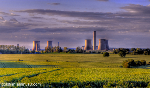Sunset on Didcot Power Station 1/4