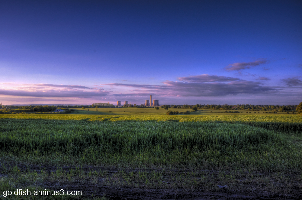 Sunset on Didcot Power Station 2/4
