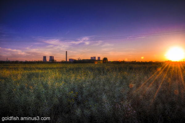Sunset on Didcot Power Station 4/4
